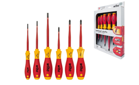 SoftFinish® electric slimFix rett spor / Phillips/ Pozidriv Xeno skrtrekker sett (6stk.)